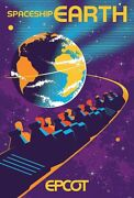 Epcot Spaceship Earth Serigraph Poster Le 100 Disney Parks Limited Eric Tan