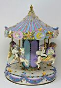 The Dreamsicles Musical Carousel Danbury Mint Hand Panted Collectible Rare