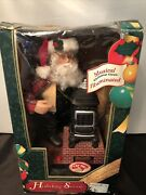 Vintage Holiday Creations Santa With Pot Belly Stove Christmas