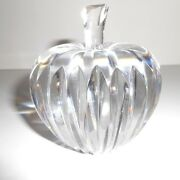 Waterford Crystal Sculpture Apple Paperweight Amazing Quality 3x4