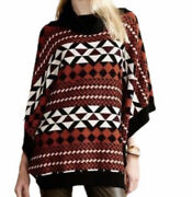 Anthropologie Ambar Poncho Sweater By The Addison Story Aztec Size Xs/s