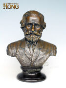 19and039and039 Art Deco Sculpture Musician Wagner Old Age Bust Bronze Statue