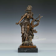 Art Deco Sculpture Girl Playing The Piano Bronze Statue