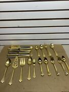 1847 Rodgers Bros Korea Gold Plated Set Of 60 Flatware Used..