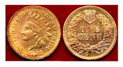 1871 1c-cleaned-nicely Toned With Luster - Indian Head Cent++