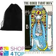 Miniature Rider-waite Tarot Deck Cards Us Games Systems With Velvet Bag New