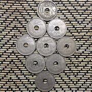 1917 Egyptian Coins Hussien Kamil10 Milliemes Lot Of Coins Coin Egypt X 9.