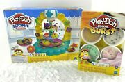 Lot Of 2 Play-doh Kitchen Creations Sprinkle Cookie Surprise Food Color Burst