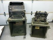 Rare Teletypewriter Signal Corps U.s. Army Corporation With Chest Ch-50-b And 62-b