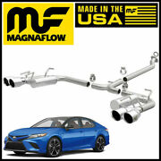 Magnaflow Cat-back Street Series Dual Exhaust W/ Quad Tips 2018-2021 Camry Xse