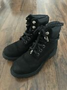 Chrome Hearts Black Boots Unisex Shoes Dagger Sterling Silver Womens