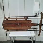 Antique Flexible Flyer Snow Sled From The 1920s 2c 42 Inches Long