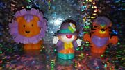 Fisher Price Little People Purple Circus Set Touch And Feel Lion Tiger Clown