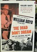Original Movie Poster Dead Don't Dream 1sh 1948 Great Images Of Hopalong Cassidy