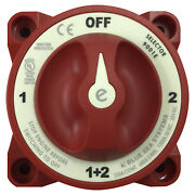 Blue Sea 9001e Marine 4-position Dual Boat Battery Selector Switch - Off/1/1+2/2