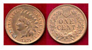 1875 1c Significant Original Red Mint Luster-indian Head Cent++