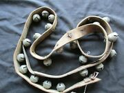 Vintage Horse Sleigh Bells 23 Amish Brass Bells With Leather Strap Ott-04807