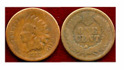 1877 1c Gold Color-key Date Indian Head Cent++