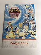 Authentic Pokemon League Trading Card Game Badge Book
