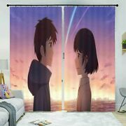 Meteor Shower Gradients 3d Curtain Blockout Photo Printing Curtains Drape Fabric