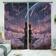 Meteor Shower Change 3d Curtain Blockout Photo Printing Curtains Drape Fabric