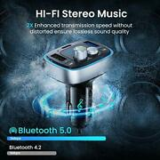Fm Transmitter Bluetooth For Car Led Backlit Adapter Wireless Call 36w 6a Ainope