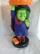 Rare Mr Christmas Halloween Witch Candy Dish Remote Control New Animated Gemmy