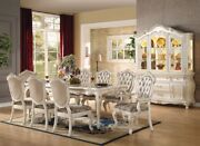 Acme Furniture Chantelle Pearl White 9 Piece Dining Set