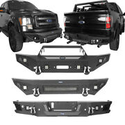 Fit 09-14 F-150 Ford Off-road Steel Front Bumper Or Rear Step Bumper W/led Light