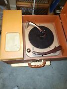 Vintage Stromberg Carlson Portable Record Player...tubed...no Tag Of Model Ect