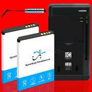 High Capacity 1600mah Extra Battery Charger Stylus For Samsung Convoy 3 Sch-u680