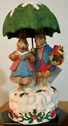 Schmid Rabbits In The Snow Beatrix Potter Music Box 1989 Plays White Christmas