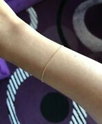14k Yellow Solid Gold Cable Chain Real Gold Bracelet Dainty Thin Brand New