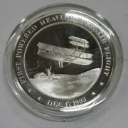 Franklin Mint History Of U.s. Sterling Silver Medal 1903 Wright Brothers Flight
