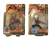 Toy Biz Spider-man 2 Super Poseable And Web Climbing Action Figures 43800 43805