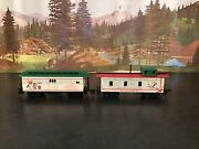 Ho Scale Peanuts Snoopy Christmas Express Wooden Baggage / Mail Car And Caboose Andnbsp