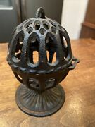 Vintage Black Cast Iron General Store String Twine Holder And Twine