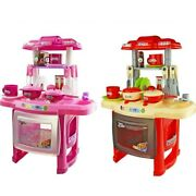 Kids Kitchen Toys Set Large Kitchen Cutlery Lighting Music Cooking Toy For Kids