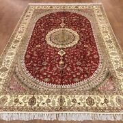 Yilong 6and039x9and039 Handknotted Silk Carpet Home Decor Red Oriental Area Rug Wy367c
