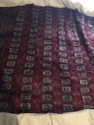 Antique Red Bokhara Afghan Oriental Hand-made 148by160great Shape