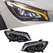 For Benz-cla Led Headlights Led Drl 2014-2019 Replace Oem Halogen Sequential