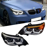 For Bmw 5 Series E60 Led Headlights Drl 2004-2007 Replace Oem Halogen Sequential