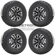 17 Ford F150 Machined Black Wheels Rims And Tires Oem Set 4 2010-2019 3891