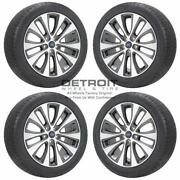18 Ford Fusion Machined Grey Wheels Rims And Tires Oem Set 4 2013-2020 10206