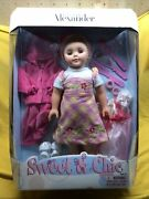"""Madame Alexander 18"""" Sweet And Chic Doll, 3 Outfits, Hair Set, Blonde, Nib"""
