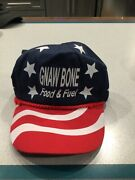 Nwot Cap Gnaw Bone Food And Fuel Red White Blue