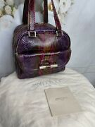 Jimmy Choo Python-leather Justine Satchel Bag Authentic Mint Condition Msrp5795