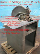 Rotex R-18 Station Turret Punch Press Production Table Back And Side Gauge Video