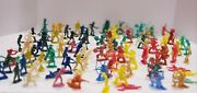 Mixed Lot Vintage Plastic Toy Cowboys And Indians Soldiers