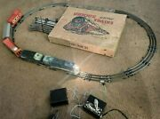 1951 Unique Lines Electric Train Set -extra Tracks And Booklet-70 Years Old Amazed